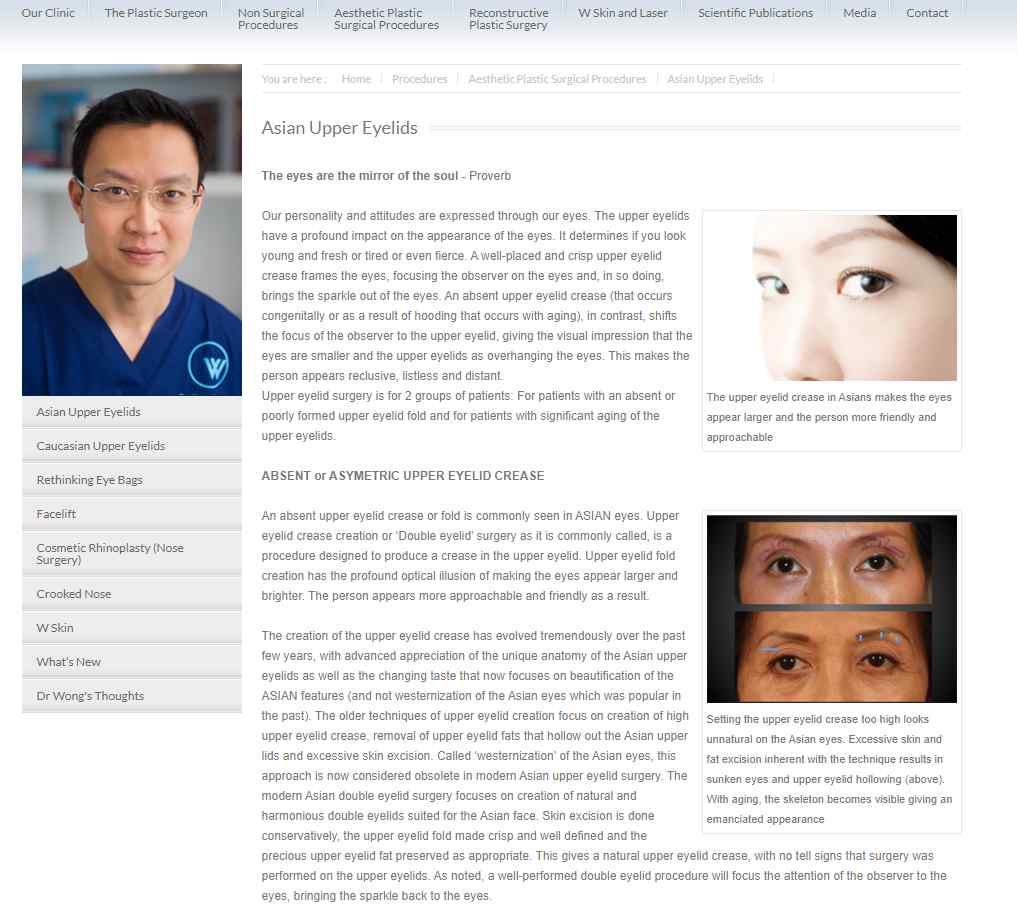 waesthetics Top Ptosis Surgery Clinics in Singapore