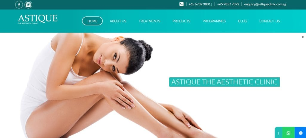 Astique Top Botox Clinics in Singapore