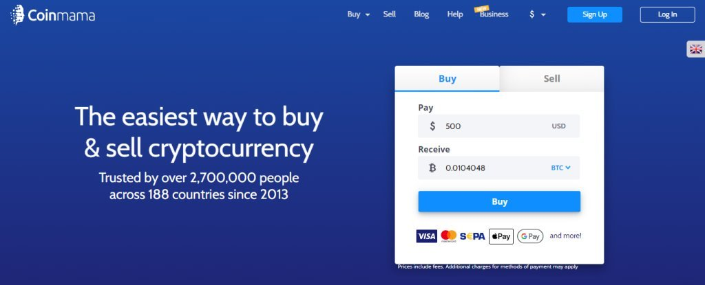 CoinMama Top Bitcoin Websites in Singapore