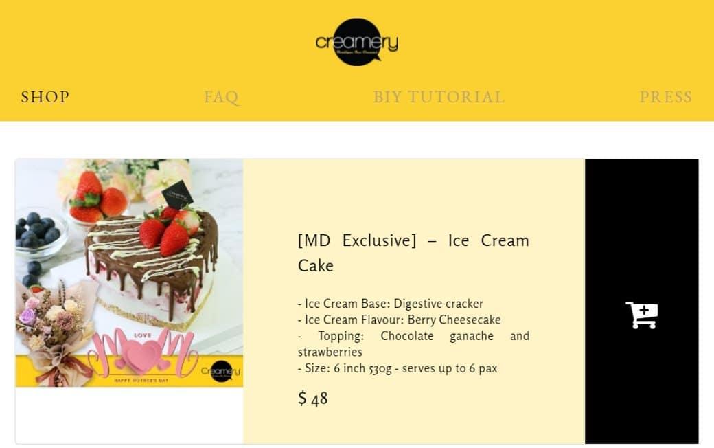 Creamery Top Dessert Stores in Singapore