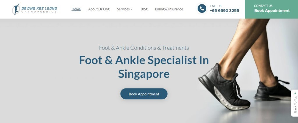 Dr Ong Kee Long Top Bunion Surgery Clinics in Singapore