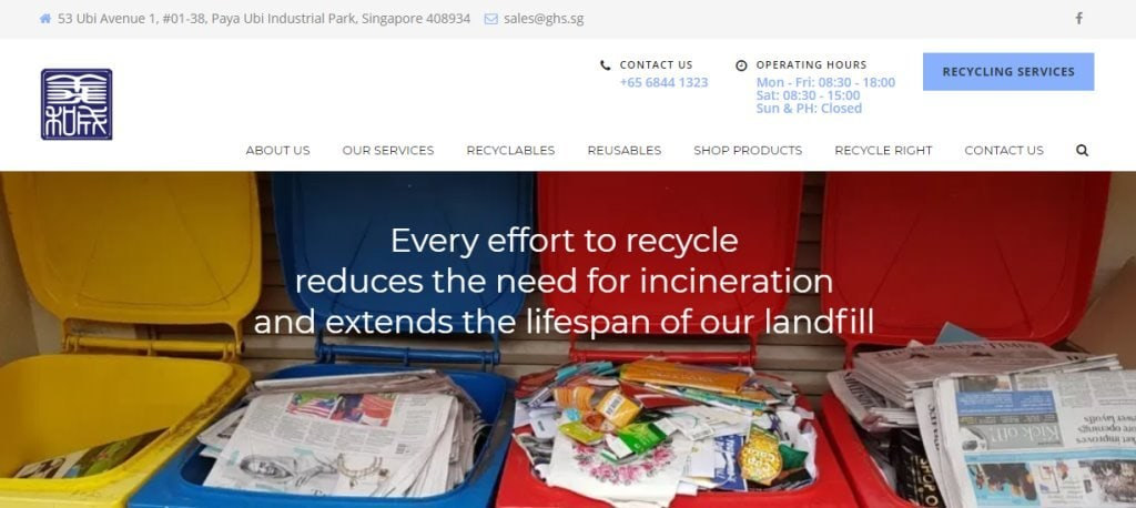 GHS Top Recycling Service Providers in Singapore