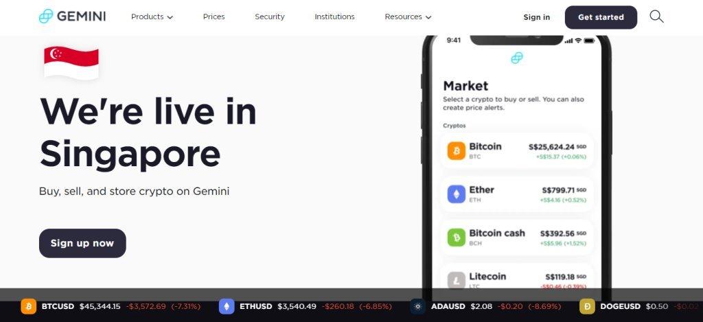 Gemini Top Bitcoin Websites in Singapore