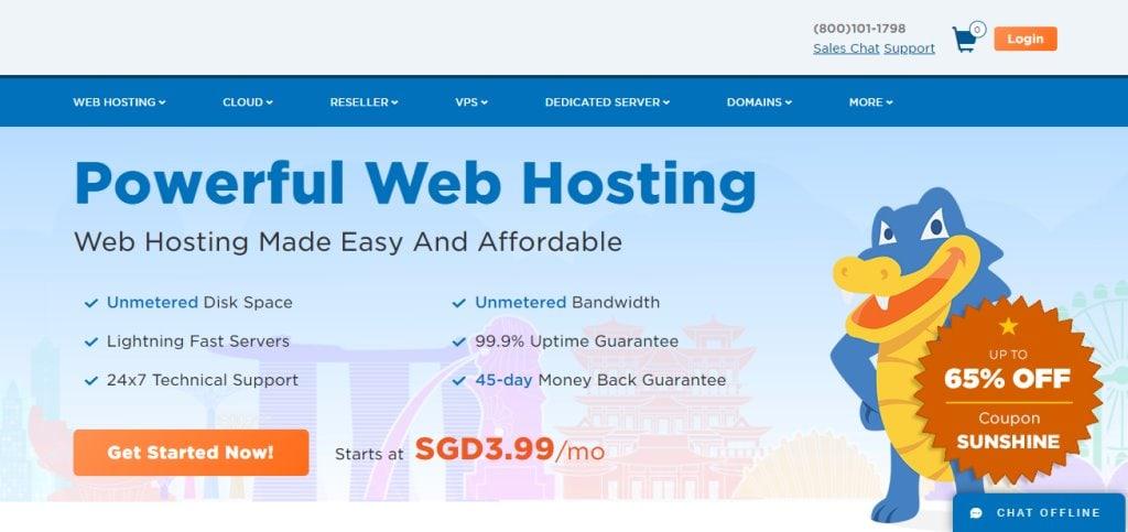 Hostgator Top Web Hosting Service Providers in Singapore
