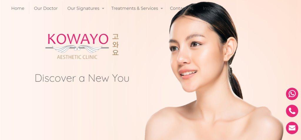 Kowayo Top Botox Clinics in Singapore