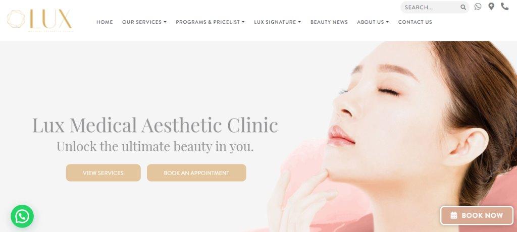 LUX Aesthetics Top Botox Clinics in Singapore