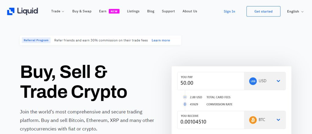 Liquid Top Bitcoin Websites in Singapore