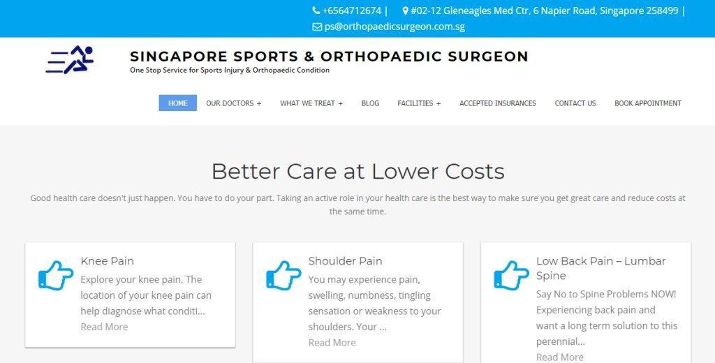 Orthopaedic Surgeon Top Bunion Surgery Clinics in Singapore