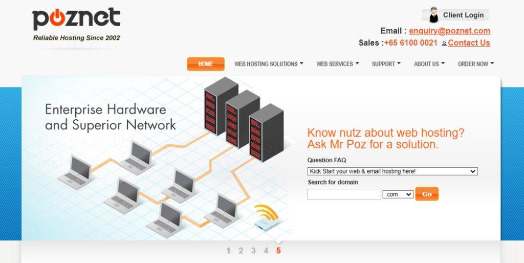 Poznet Top Web Hosting Service Providers in Singapore
