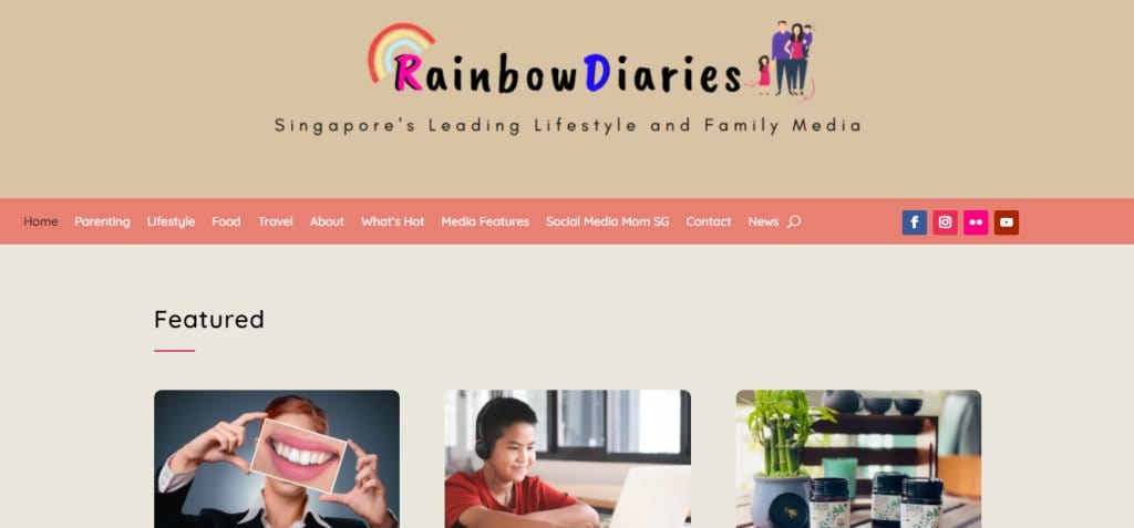 Rainbow diaries Top Lifestyle Blogs in Singapore