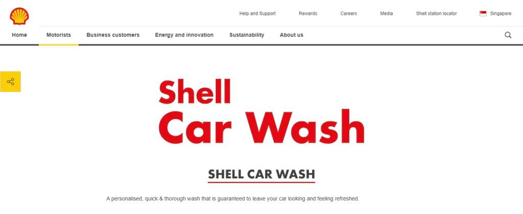 Shell Car Wash Top Car Wash Services in Singapore