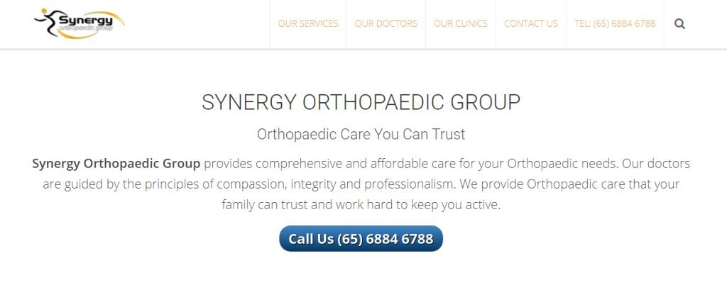 Synergy Top Bunion Surgery Clinics in Singapore