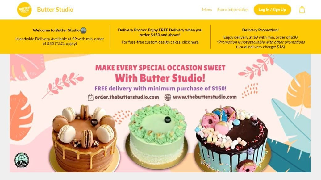 The Butter Studio Top Dessert Stores in Singapore