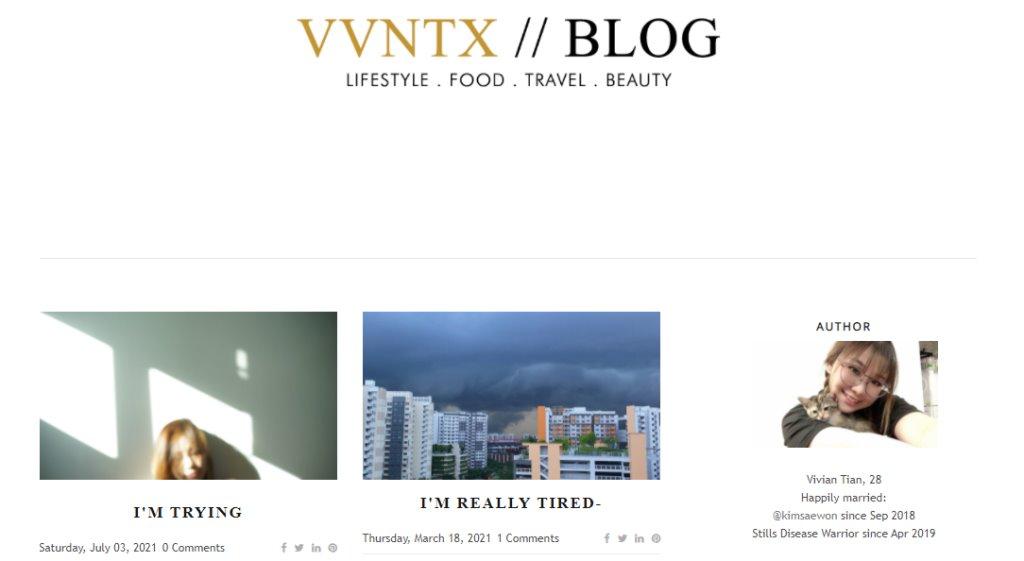 Vivian Tian Top Lifestyle Blogs in Singapore
