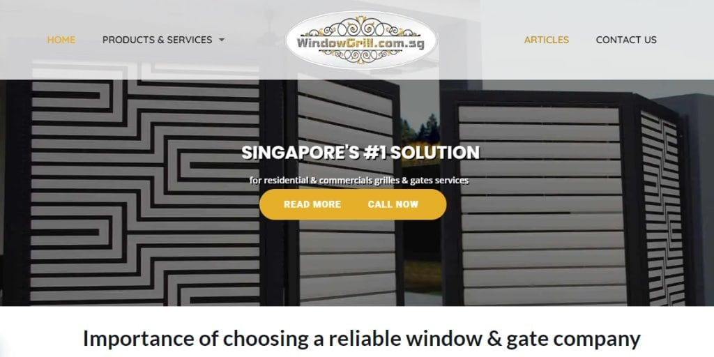 Window Grill Top Window Grill Providers in Singapore