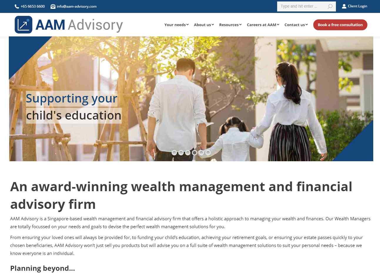 aam Advisory Top Financial Advisors in Singapore