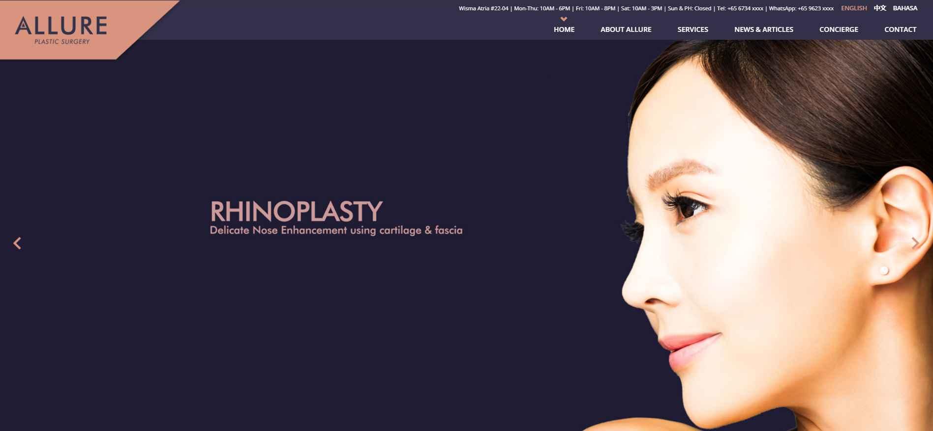 allure Top Breast Implant Clinics in Singapore
