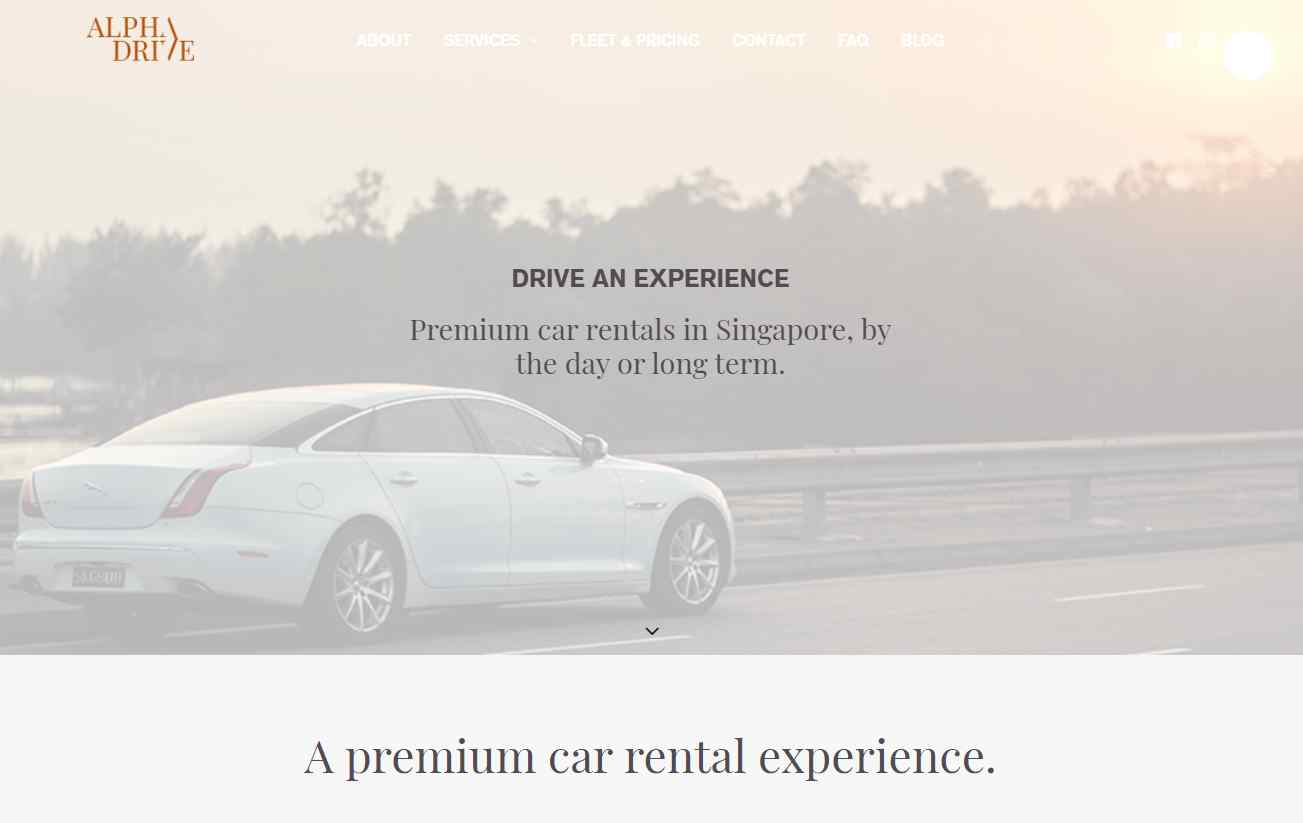 alpha drive Top Luxury Car Rental Services in Singapore