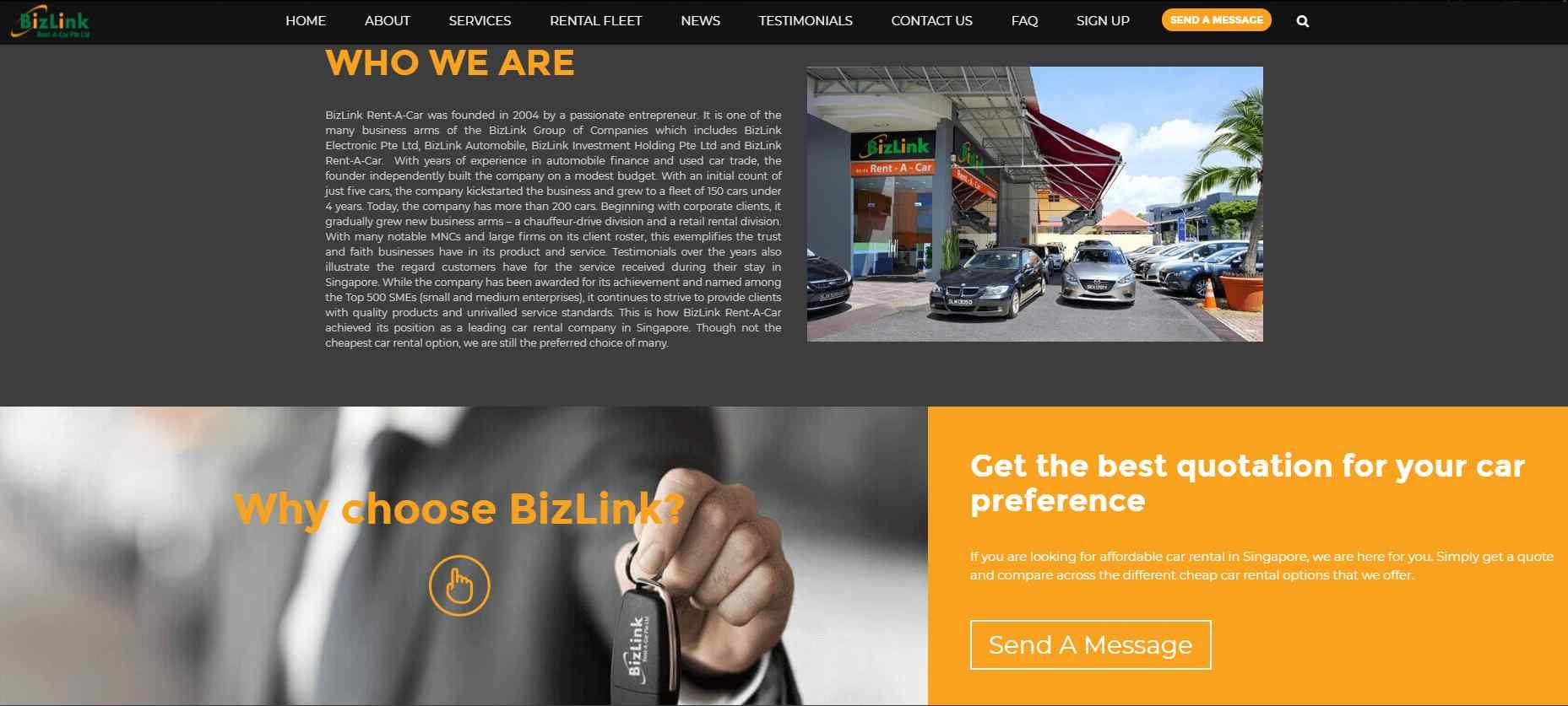 biz link rent a car Top Luxury Car Rental Services in Singapore