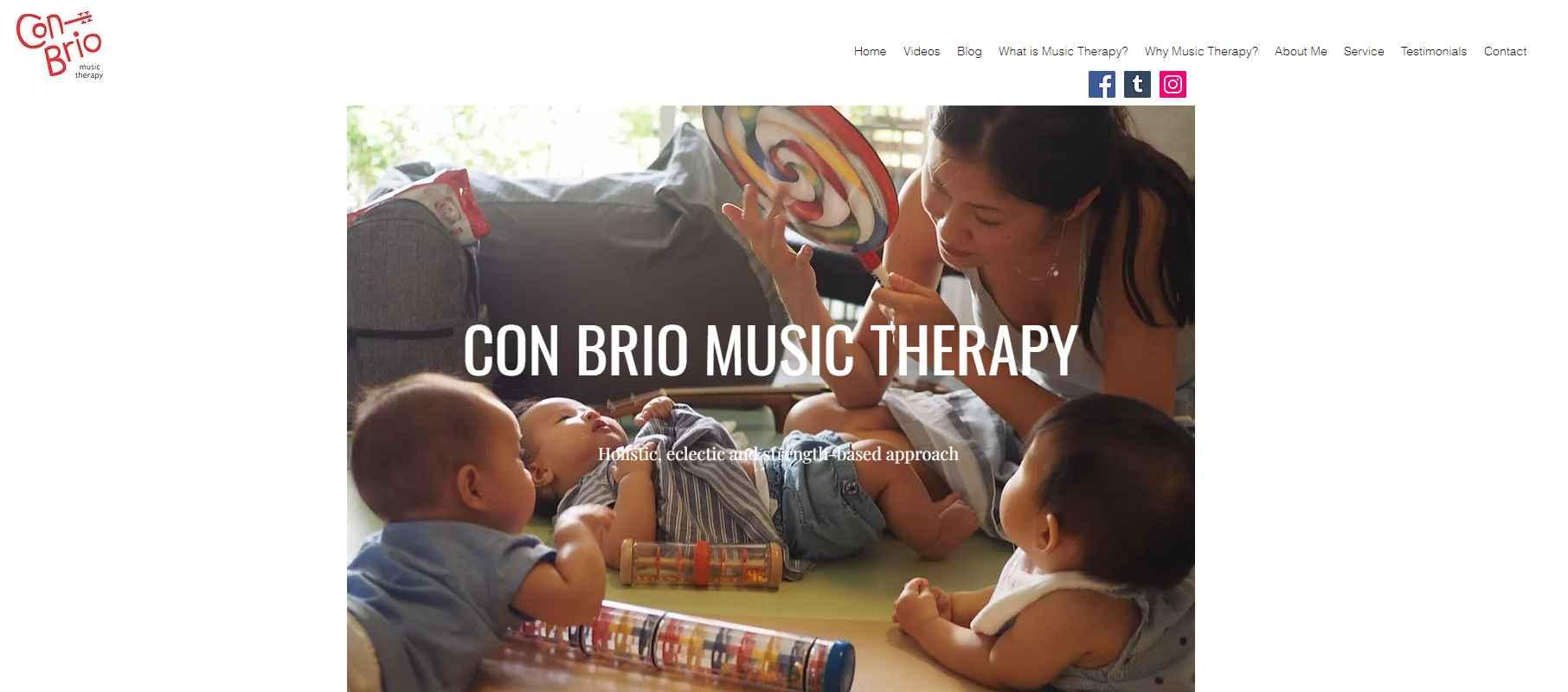con brio Top Music Therapy Services in Singapore