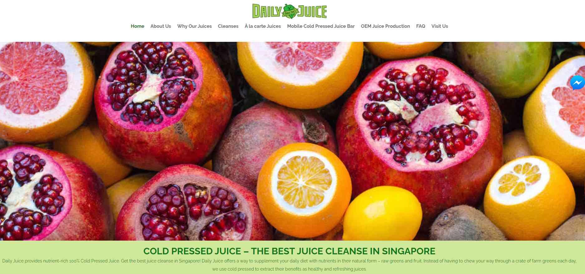 daily juice Top Juice Retailers in Singapore