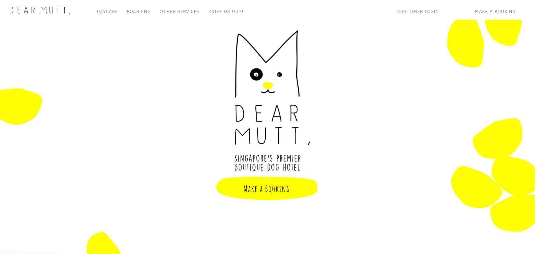 dear mutt Top Dog Boarding Services in Singapore