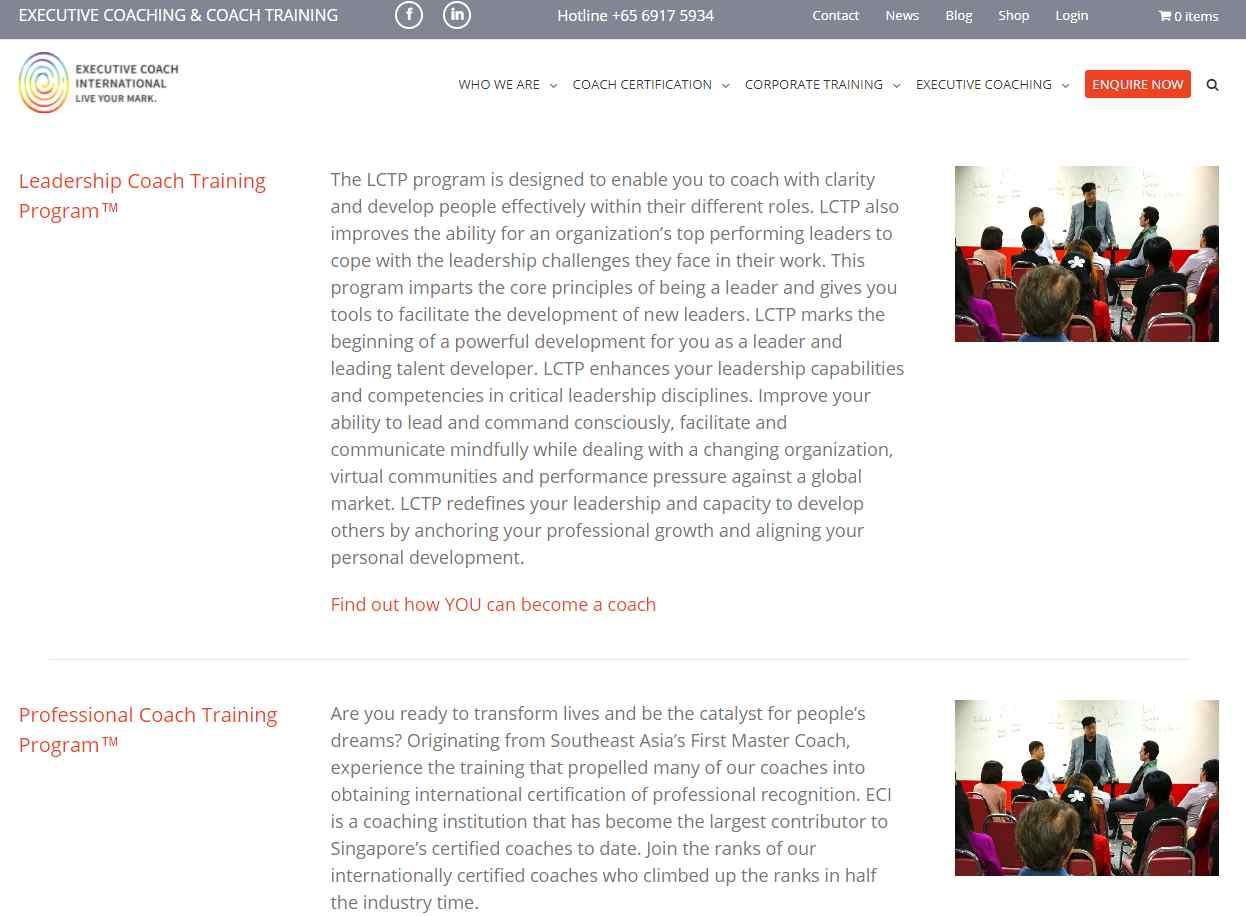 eci coaching Top Life Coaches in Singapore