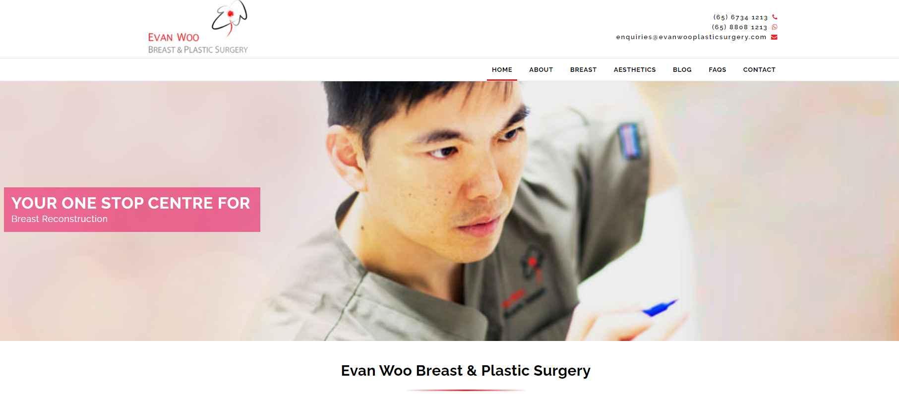 evan woo Top Breast Implant Clinics in Singapore