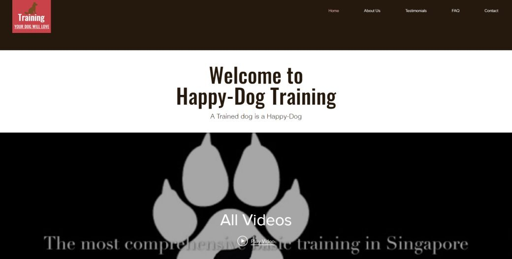 happy Dog-Training Top Dog Trainers in Singapore