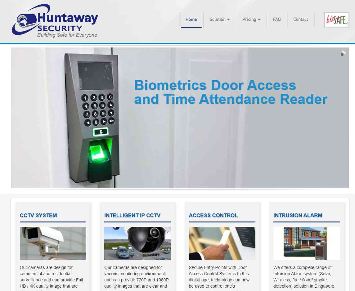 huntaway Top Home Security Systems in Singapore