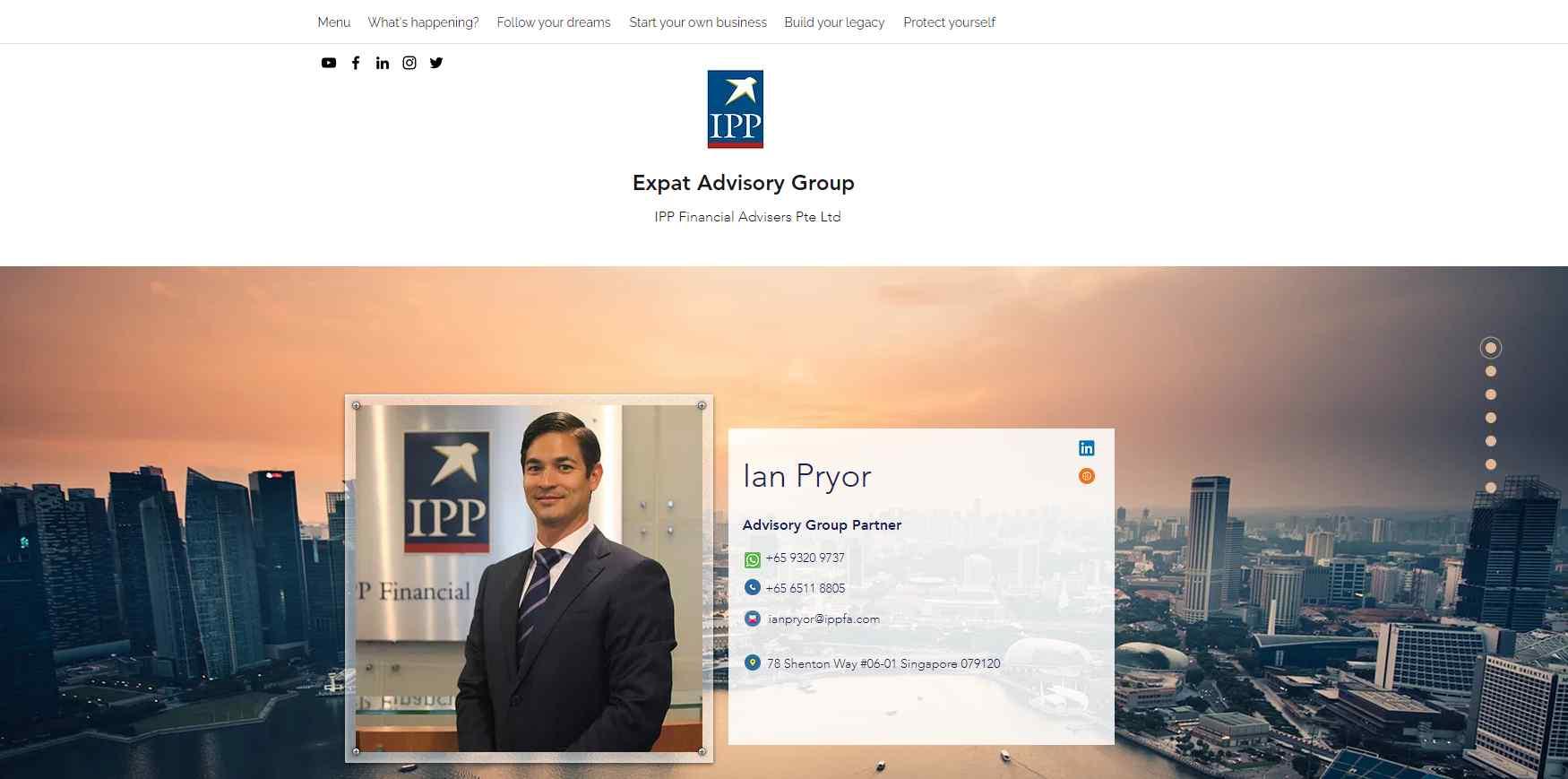 ian pryor Top Financial Advisors in Singapore