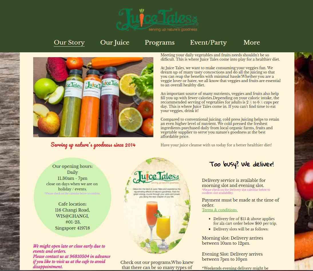 juice tales Top Juice Retailers in Singapore