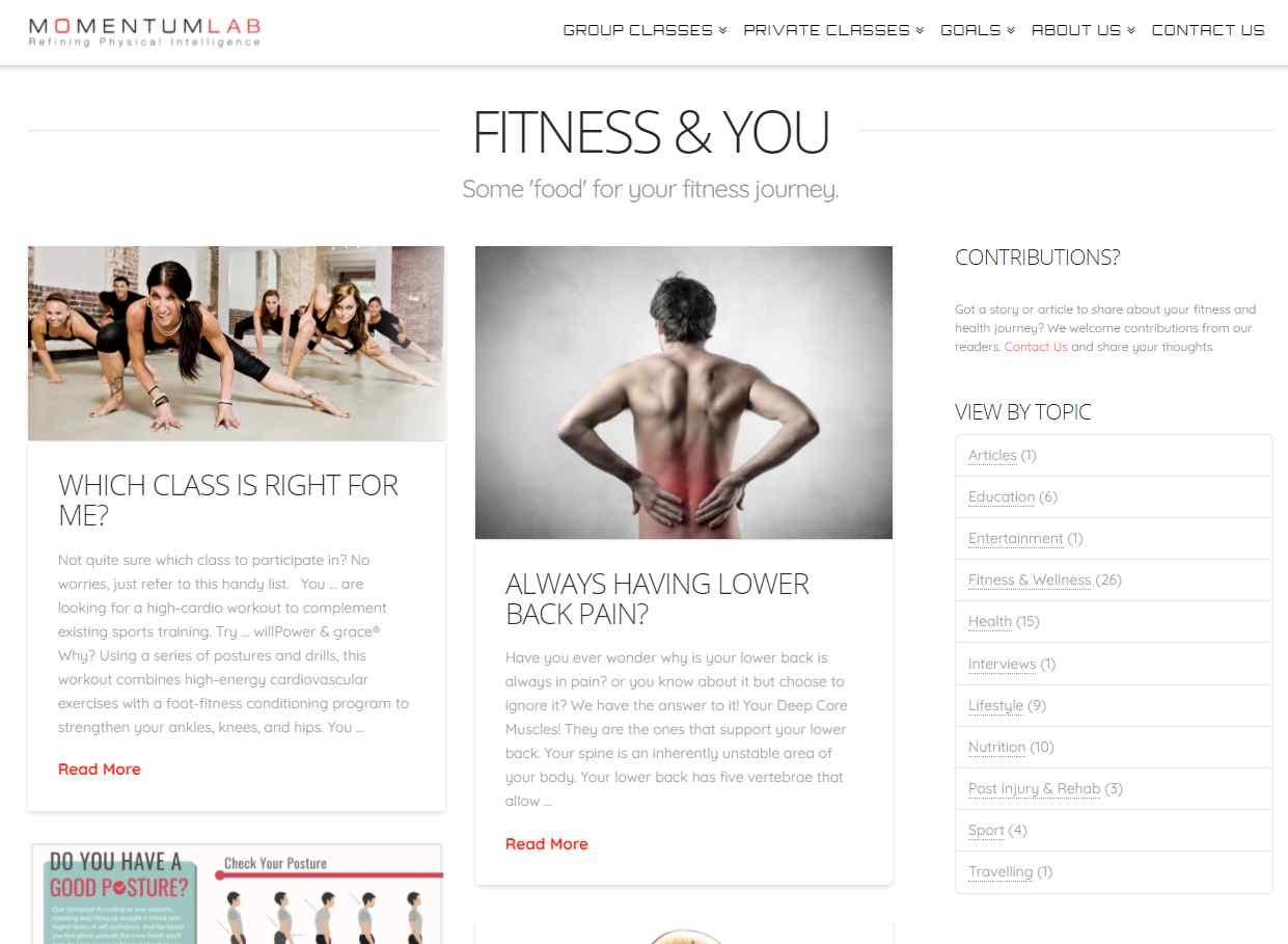 momentum lab Top Health Blogs in Singapore