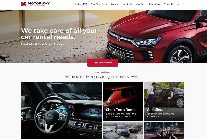 motorway Top Luxury Car Rental Services in Singapore