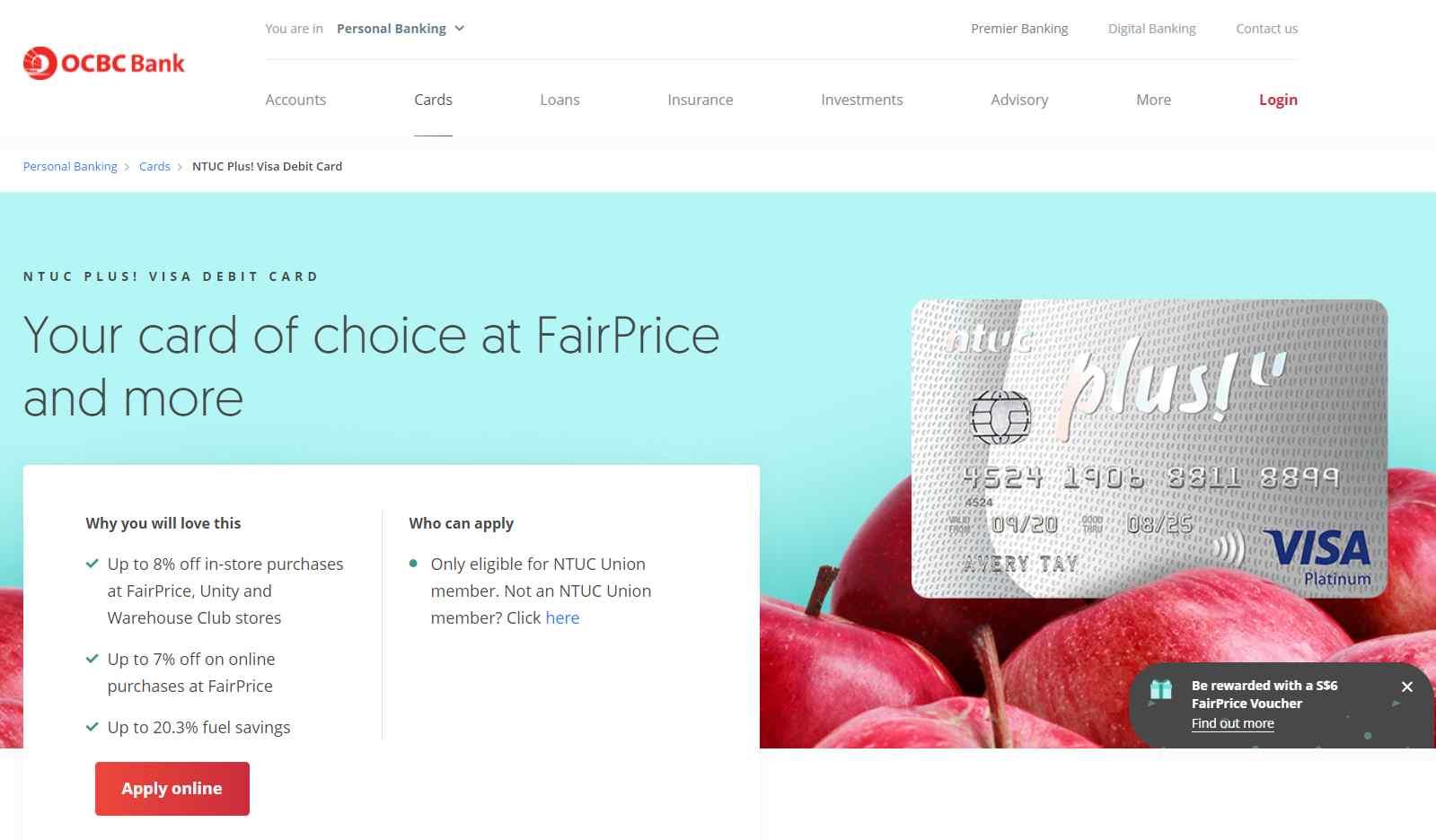 ntuc plus Top Debit Cards in Singapore