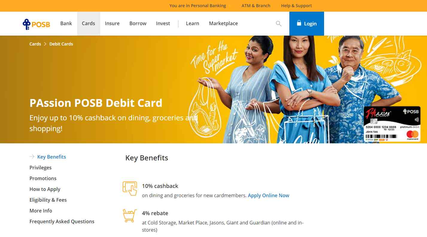 passion posb Top Debit Cards in Singapore