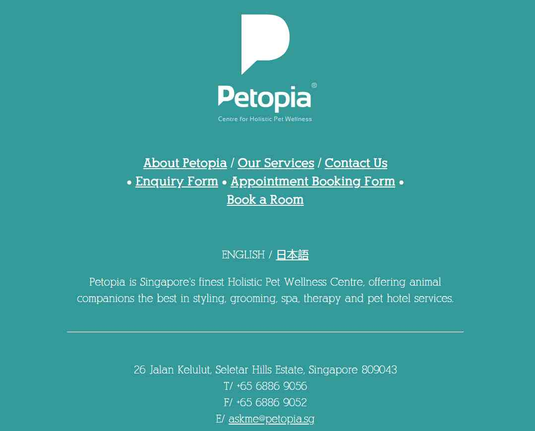 petopia Top Dog Boarding Services in Singapore