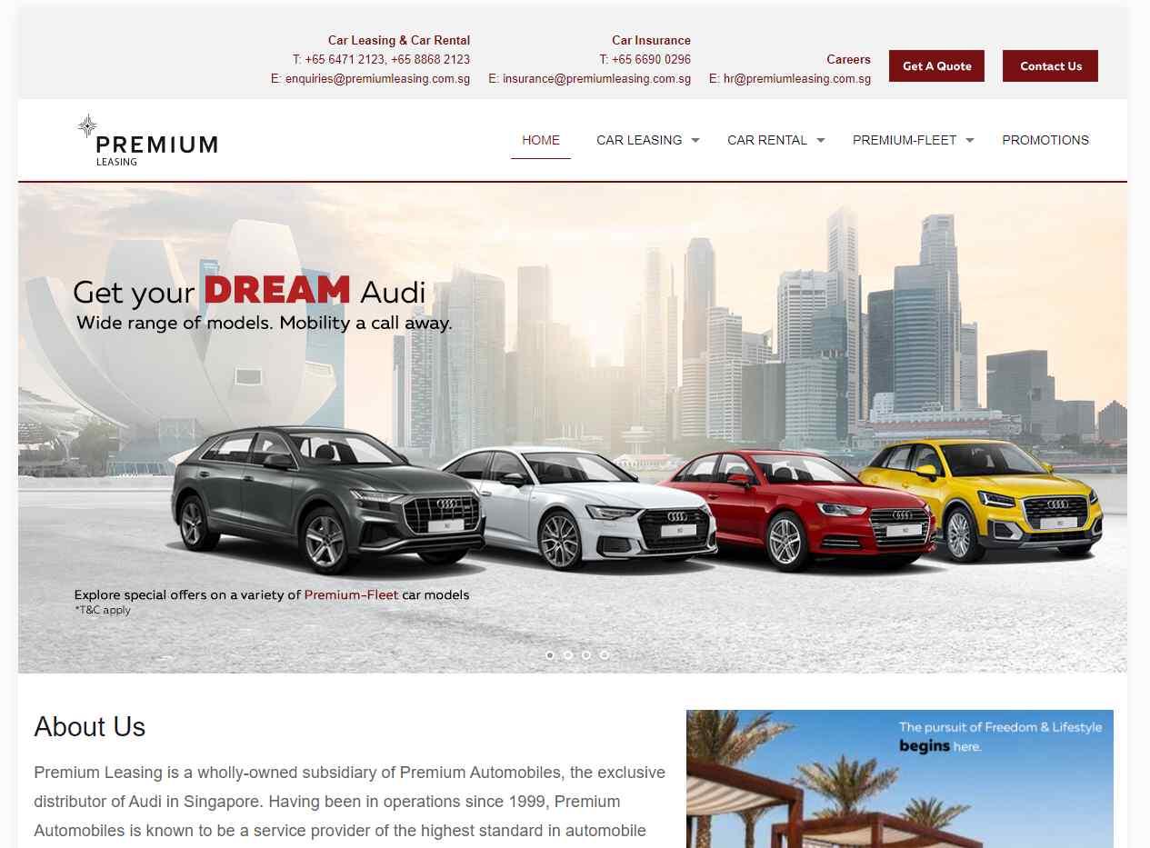 premium leasing Top Luxury Car Rental Services in Singapore
