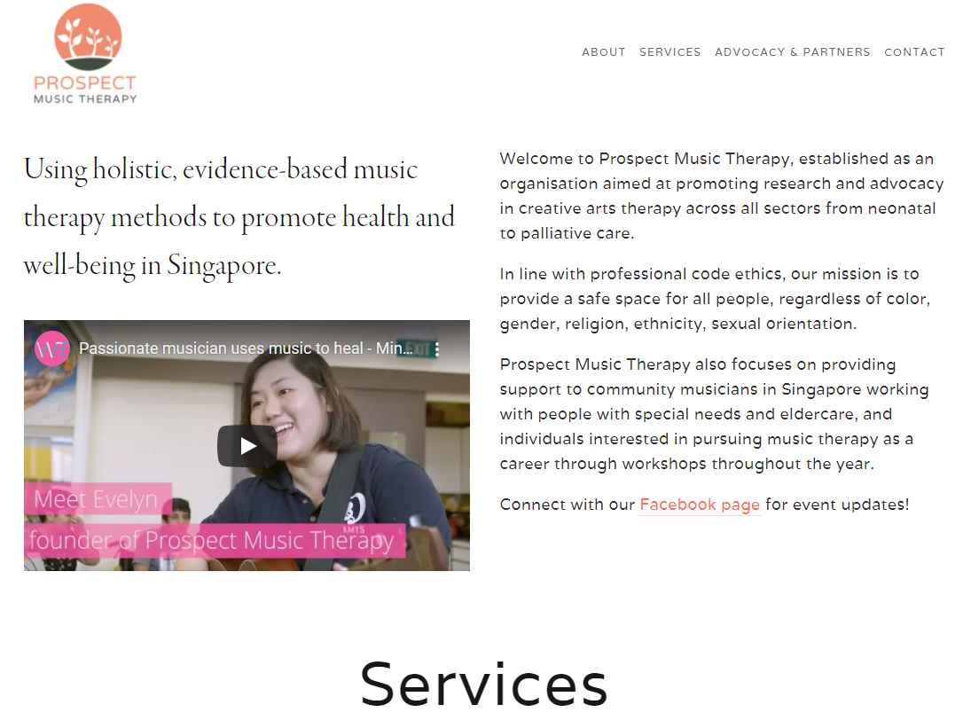 prospect Top Music Therapy Services in Singapore