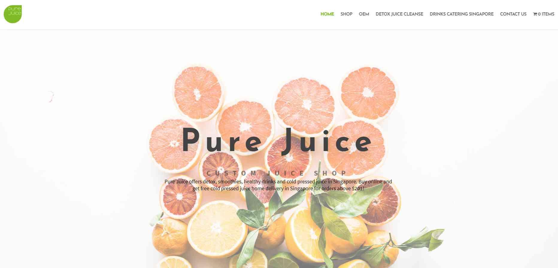 pure juice Top Juice Retailers in Singapore