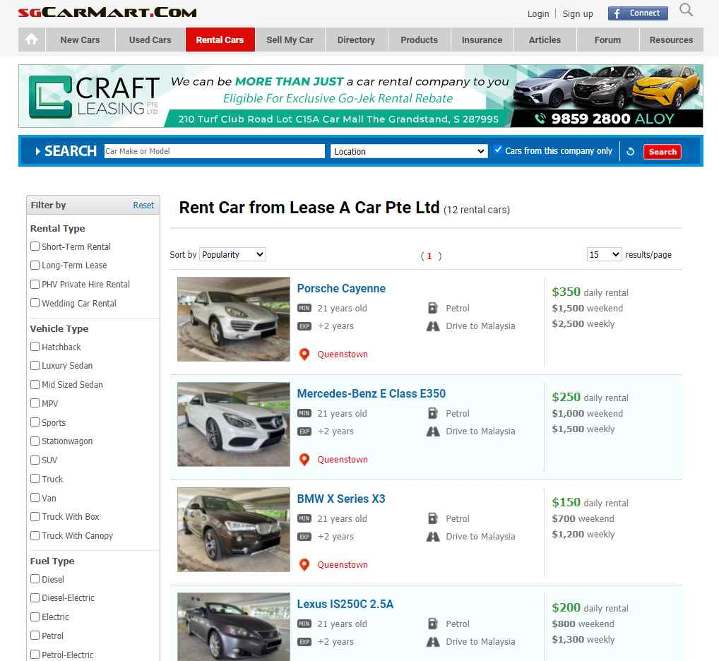 sg car mart Top Luxury Car Rental Services in Singapore