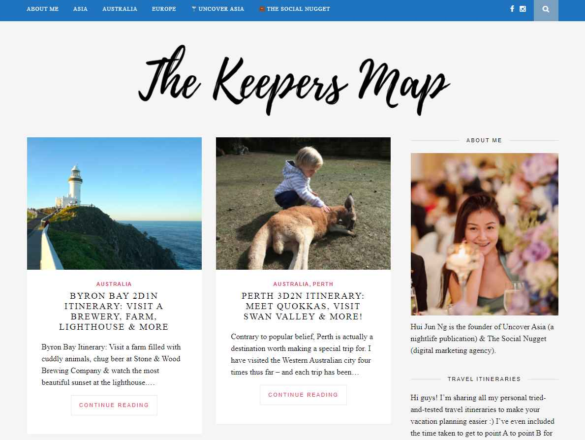 the keepers map Top Travel Blogs in Singapore