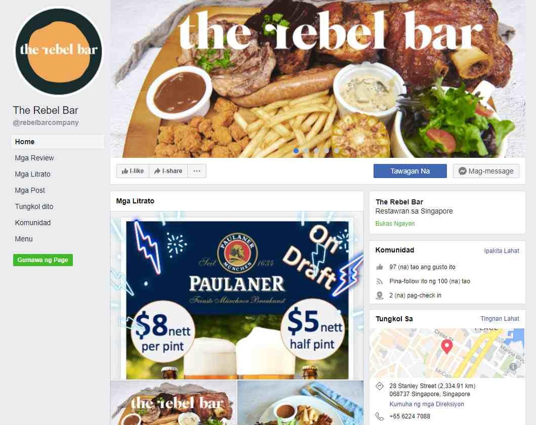the rebel bar Top German Restaurants in Singapore