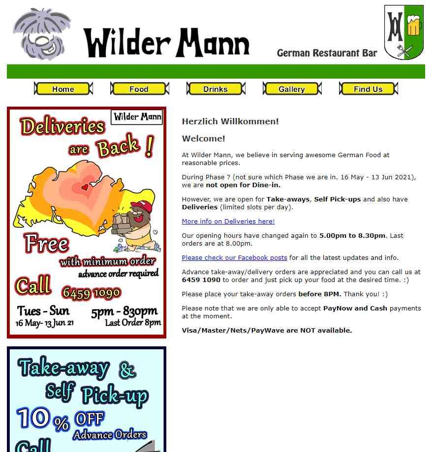 wilder mann Top German Restaurants in Singapore