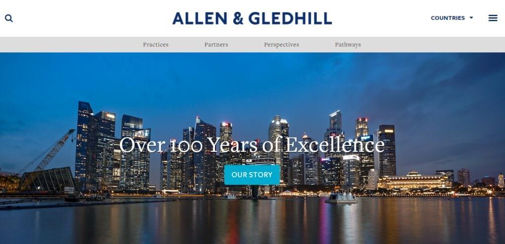 Allen & Gledhill Top Bankruptcy Law Service Providers in Singapore