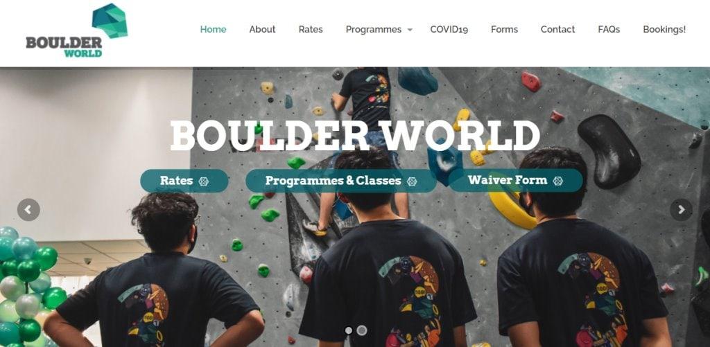 Boulder World Top Rock Climbing Gyms in Singapore