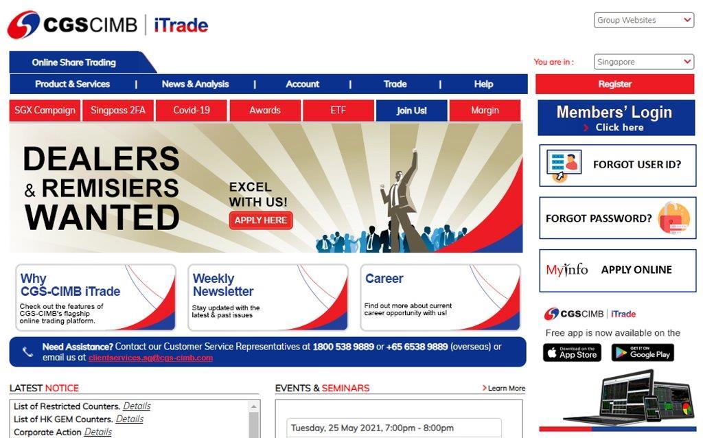 CGS Top Online Trading Platforms in Singapore