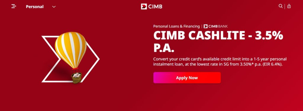 CIMB Top Bank Loans in Singapore