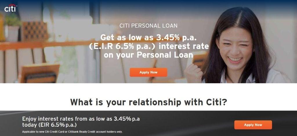Citi Bank Top Bank Loans in Singapore