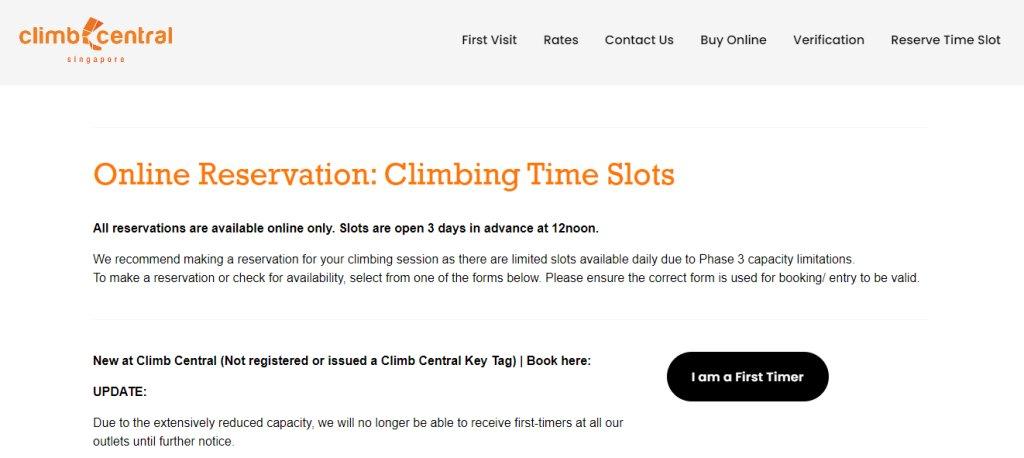 ClimB Central Top Rock Climbing Gyms in Singapore